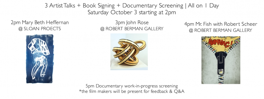 Three Artist Talks + Book Signing + Documentary Preview