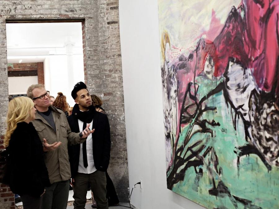 Lola Schnabel's Art Exhibition Opens