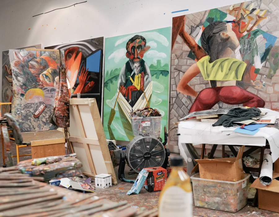 After the Quake, Dana Schutz Gets Back to Work