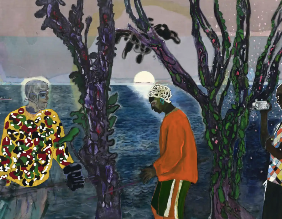 Peter Doig review – sun, sea and savagery in a troubled paradise