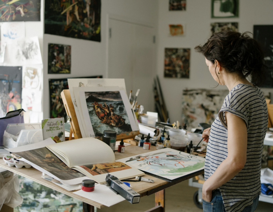 Inside Artist Cecily Brown's New York Studio