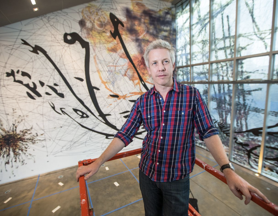 For Matthew Ritchie, it's playtime at the ICA
