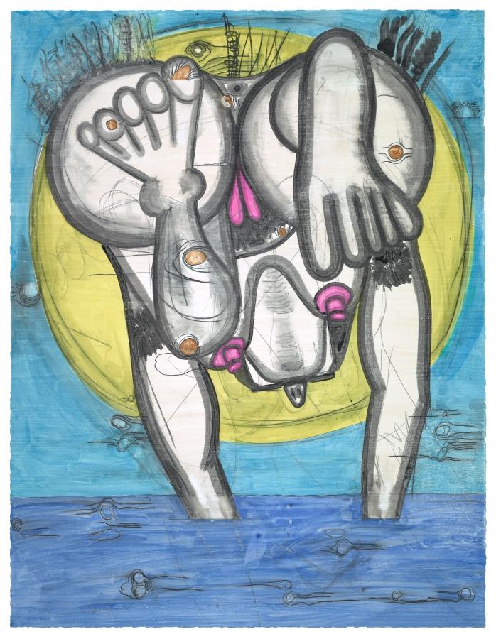 Carroll Dunham, Untitled, (6/3/14)