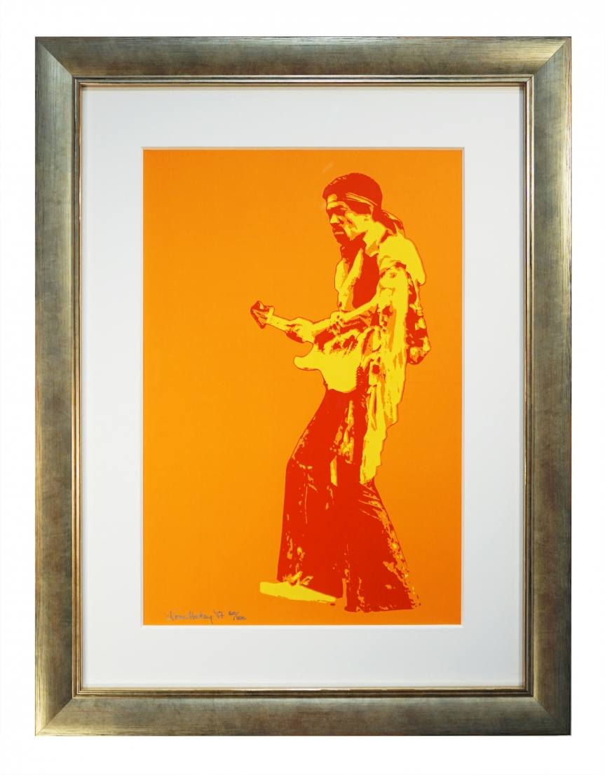 Jimi Hendrix poster for 1969 Madison Square Garden NY concert. Photo by Nona Hatay