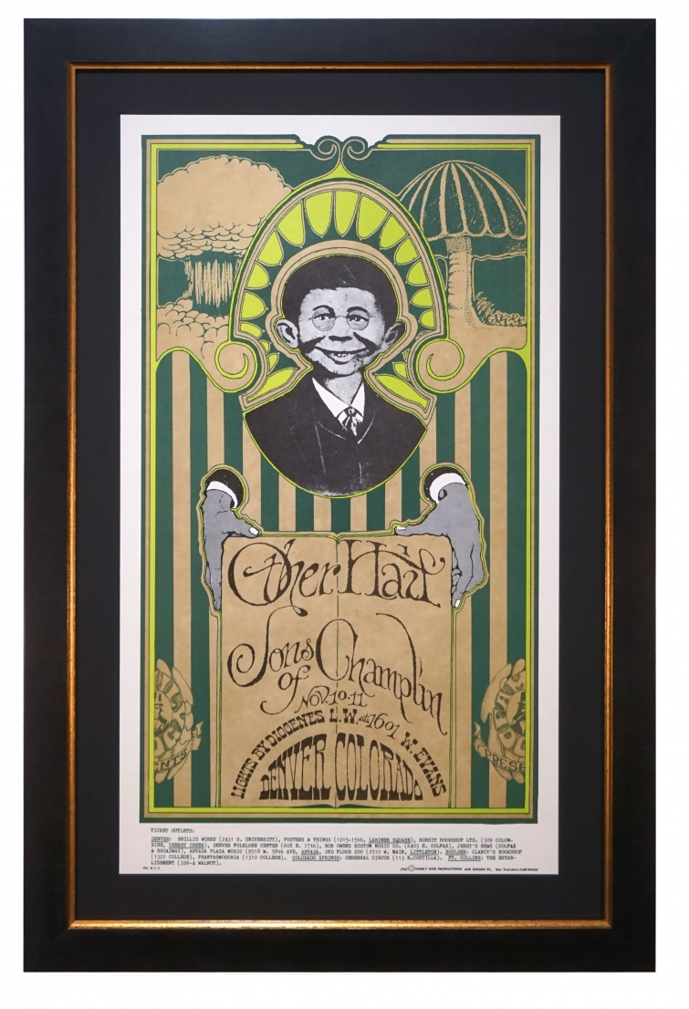 FDD-11  Poster 1967 featuring Alfred E. Neuman for The Other Half and Sons of Champlin, Denver, November 10-11, 1967 by Stanley Mouse and Alton Kelley