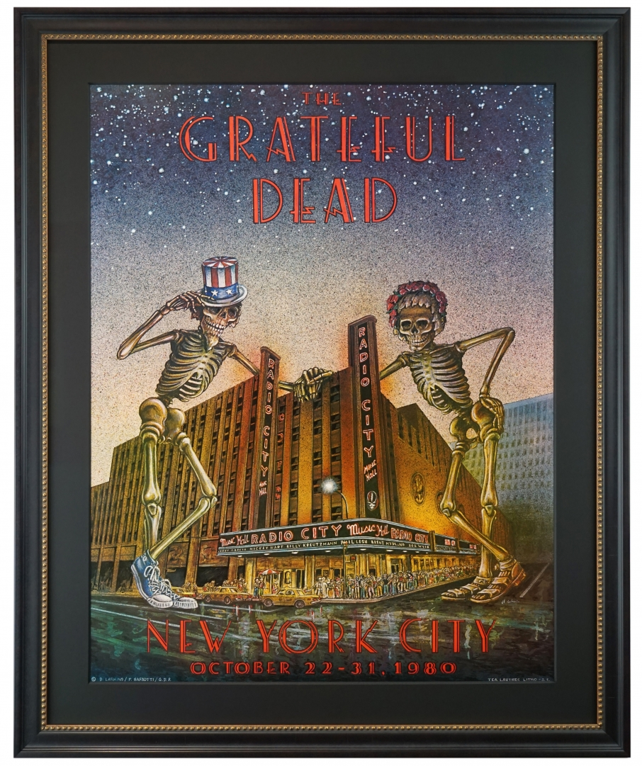 Grateful Dead poster 1980 Radio City Music Hall NYC