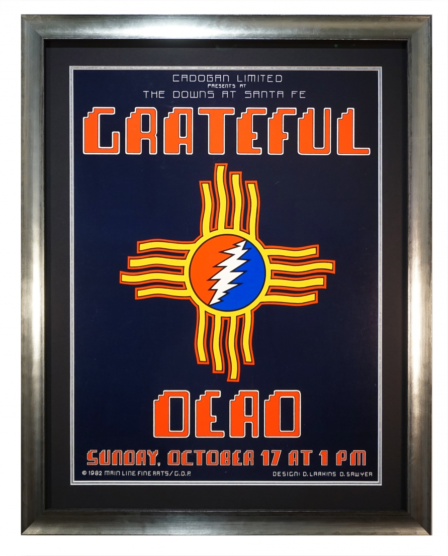 Grateful Dead poster 1982 show at Santa Fe, NM. Hopi and Navaho Indian themes by Dennis Larkins