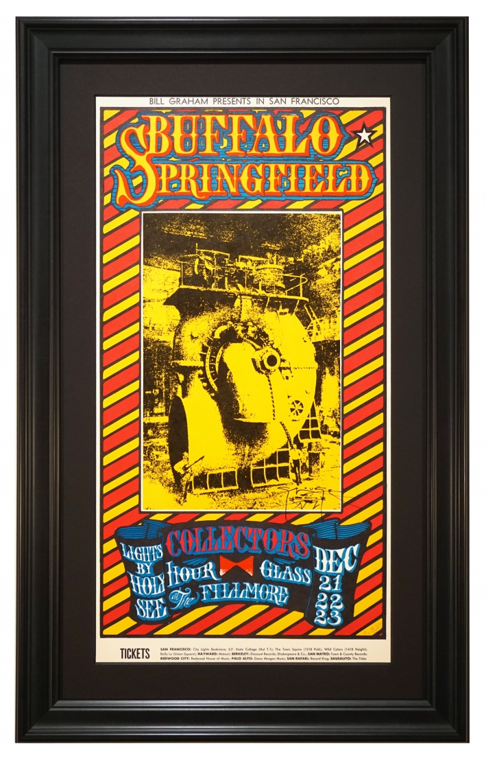 BG-98 Buffalo Springfield and early Allman Brothers poster from 1967. Allman Brothers called Hour Glass.