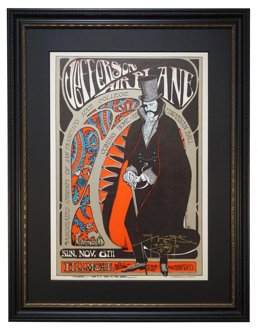 AOR 2.81  Edwardian Ball Poster featuring Jefferson Airplane by Stanley Mouse and Alton Kelley 1966 Fillmore poster