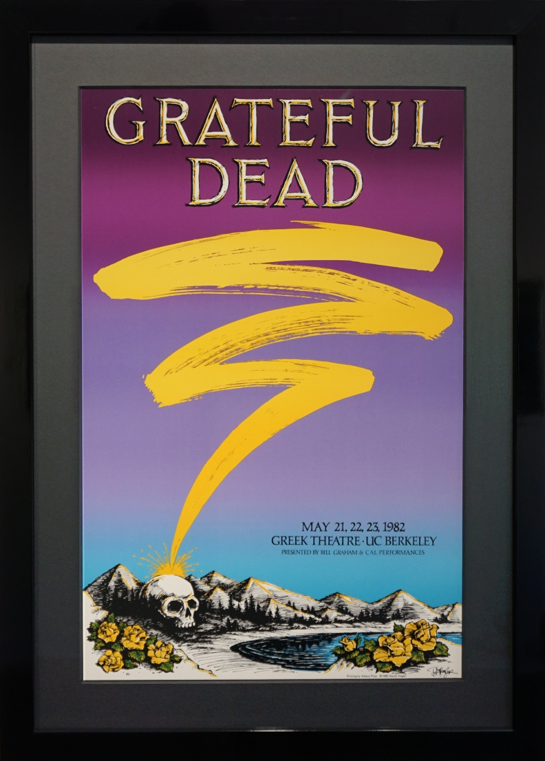 Grateful Dead poster for show at Greek Theatre in Berkeley 1982 by Danny Ziegler
