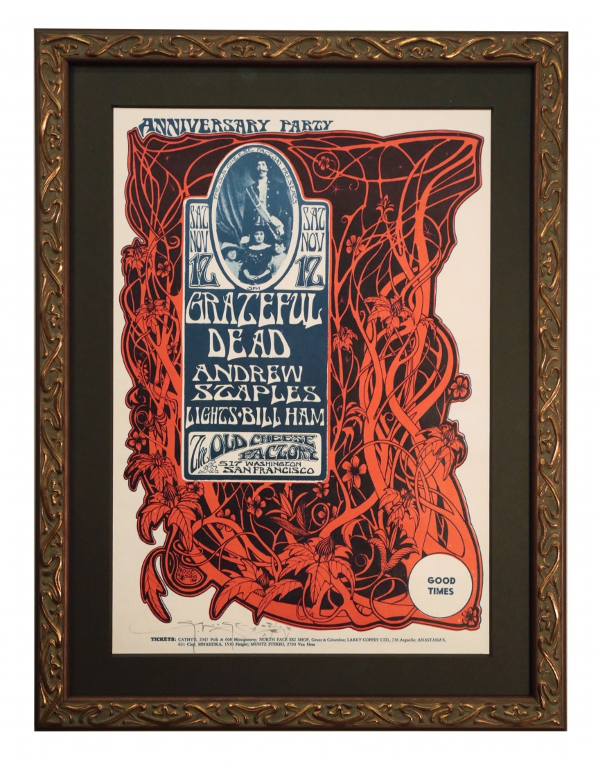 AOR 2.185  Grateful Dead poster from 1966.  Rock concert poster for the Cheese Factory, November 12, 1966 by Grateful Dead
