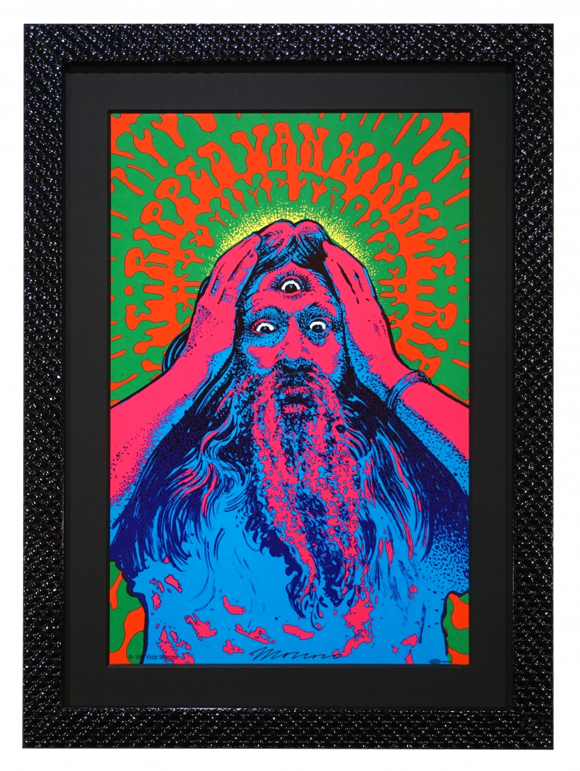 1988 poster for a play by the San Francisco Mime Troupe called Ripped Van Winkle by Victor Moscoso