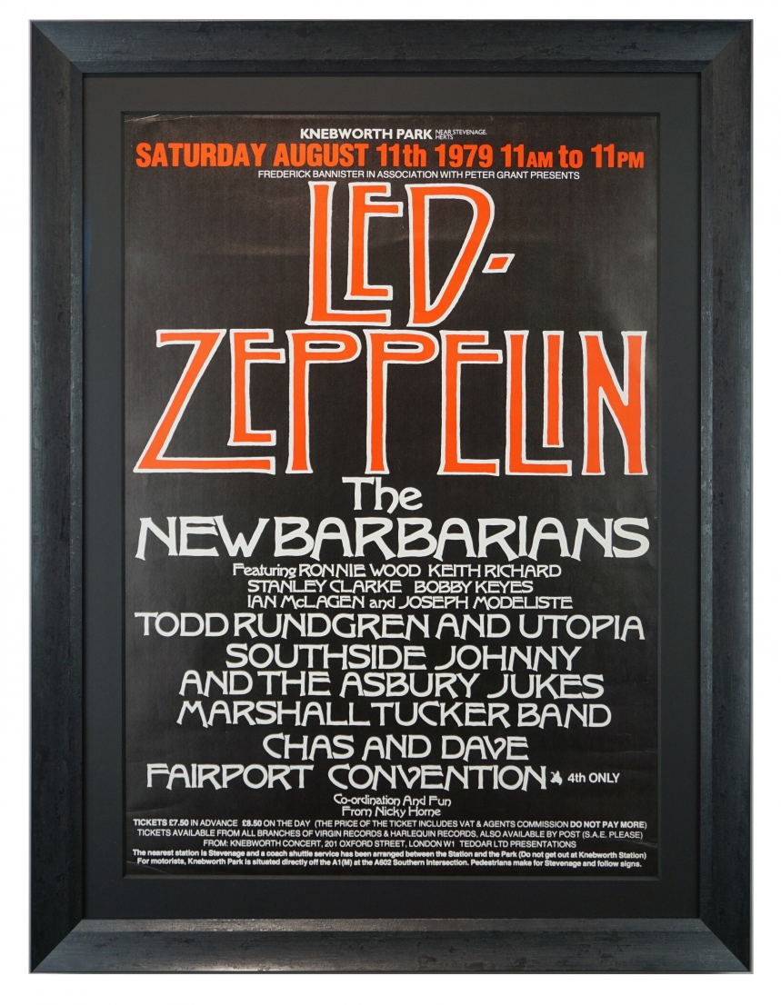 Led Zeppelin at Knebworth Festival 1979