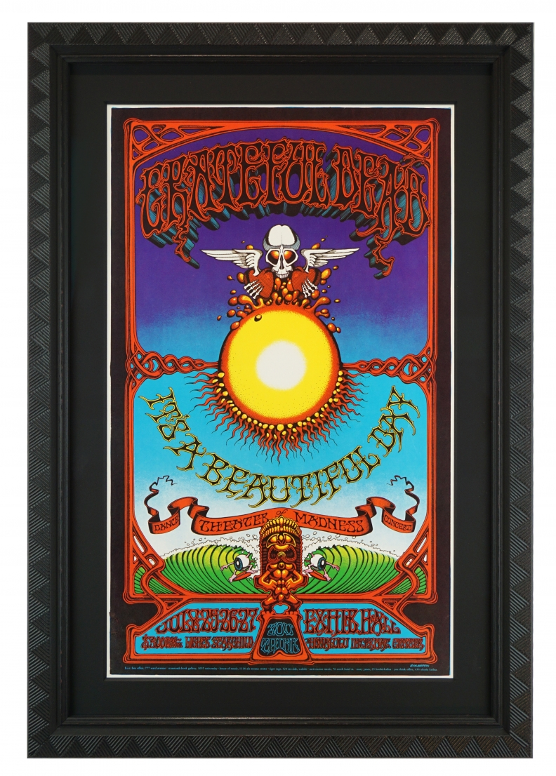 AOR 3.116 Poster by Rick Griffin. 1969 Grateful Dead Poster featuring the Hawaiian Aoxomoxoa image