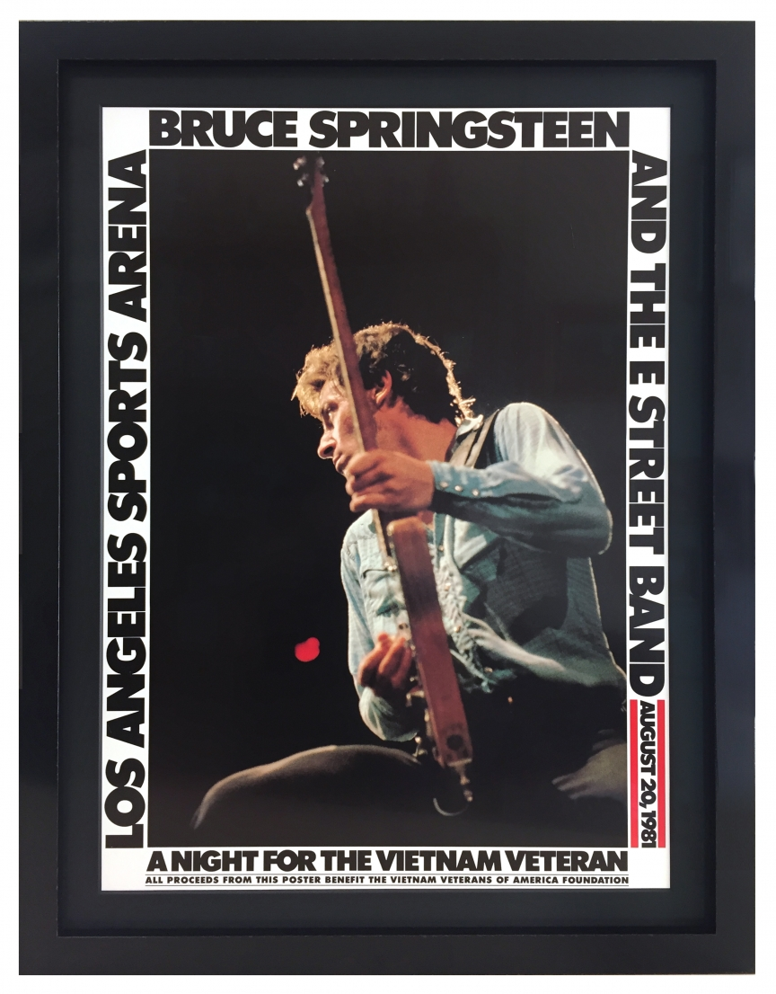 Bruce Springsteen Poster 1981 A Night for the Vietnam Veteran in Los Angeles August 20, 1981