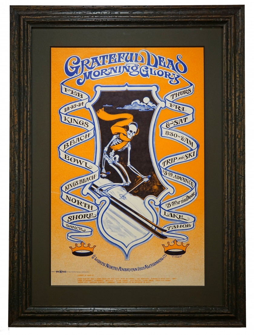 AOR 3.29 Grateful Dead poster Feb 22-24 1968 at Kings Beach Bowl. Poster called Trip and Ski, by Bob Fried