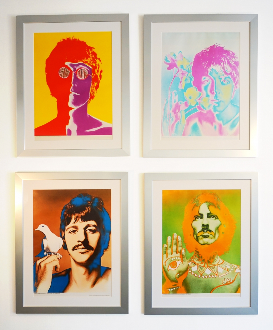 Richard Avedon Look Magazine Posters of The Beatles 1967 John Lennon, George Harrison, Paul McCartney and Ringo Starr
