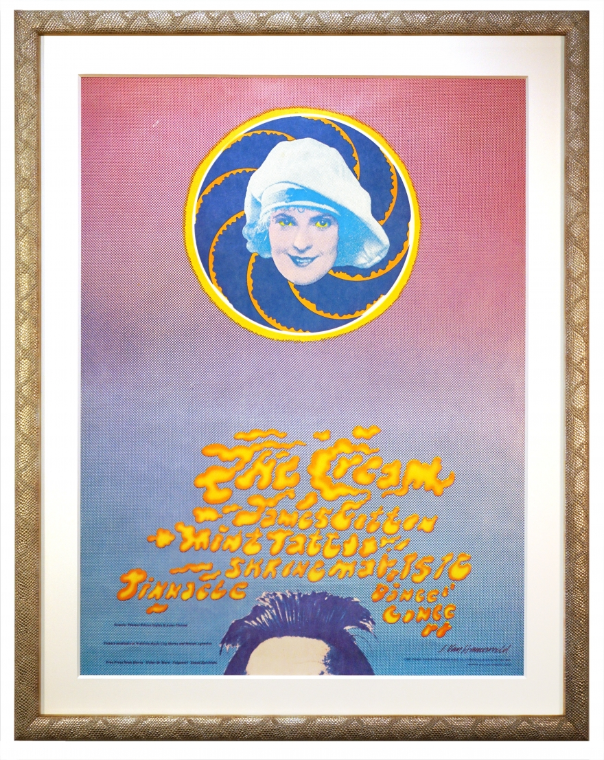 AOR 3.73 Poster for The Cream at the Shrine Los Angeles by John Van Hamersveld. 1968 Cream poster