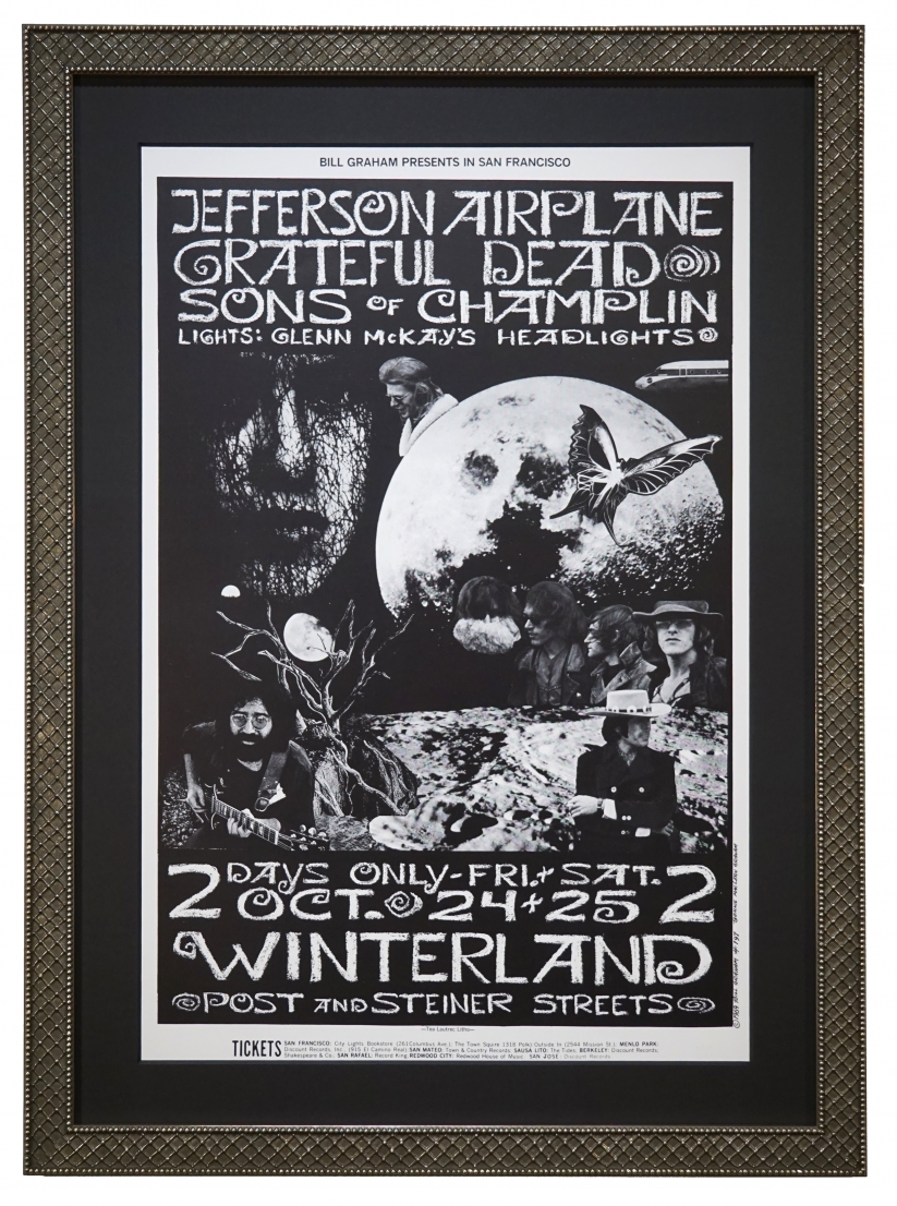 BG-197 Grateful Dead poster October 24-25, 1969 with Jefferson Airplane and Sons of Champlin at Winterland