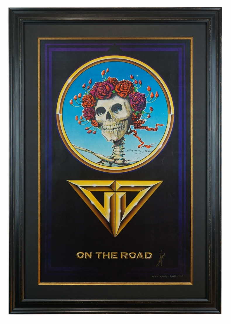 On The Road, a 1978 Grateful Dead poster for their 1978 tours this poster was designed by Stanley Mouse & Alton Kelley