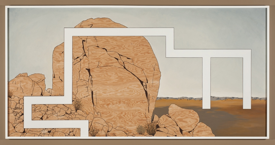 Andrea Zittel, Prototype For Billboard at A-Z West: Big Rock on Hill Behind House