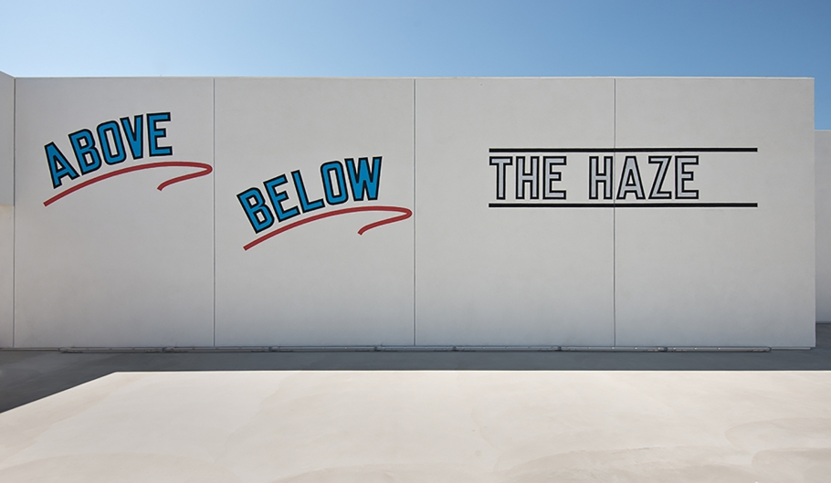 LAwrence Weiner - Above Below the Haze