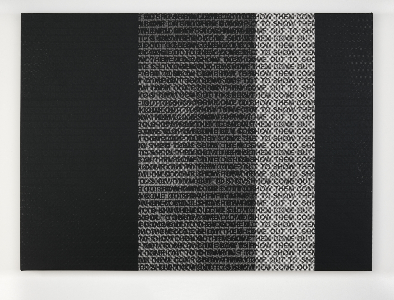Glenn Ligon - come out study 2