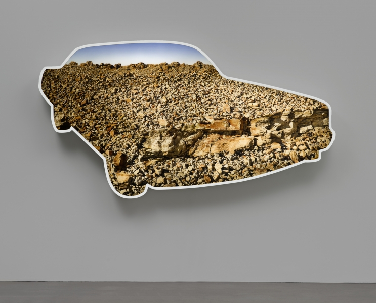 doug aitken - rock  car