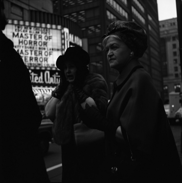 "Vivian Maier- Untitled (Marquee, ""Master of Horror"")"