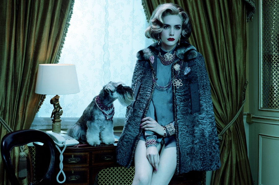 Miles Aldridge, Dog Lady #3