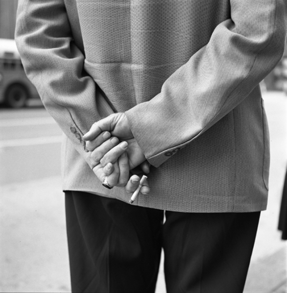 Vivian Maier, Untitled (Hands Behind Back, Cigarette)