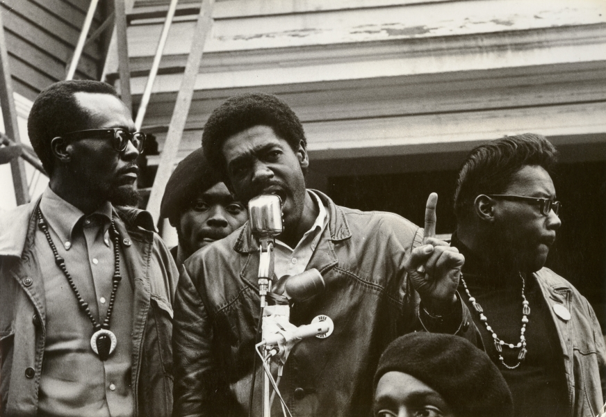 Stephen Shames- Bobby Seale Speaks at Defermery Park During Early Panther Rally