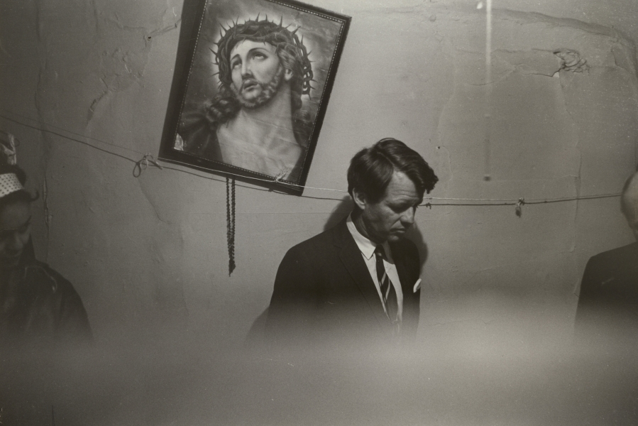 Fred W. McDarrah- Robert Kennedy in Slum Apartment