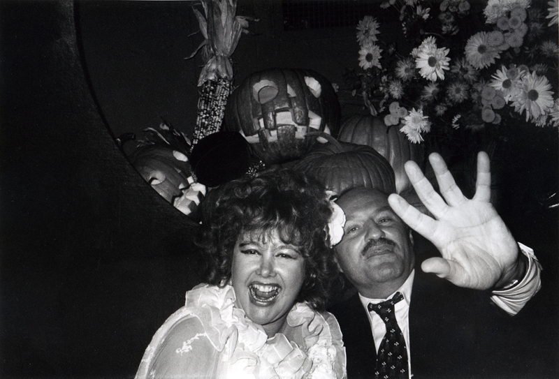 Bob Colacello, Lady Rothermere (Bubbles) and Lester Persky at Xenon's 1978 Halloween Party
