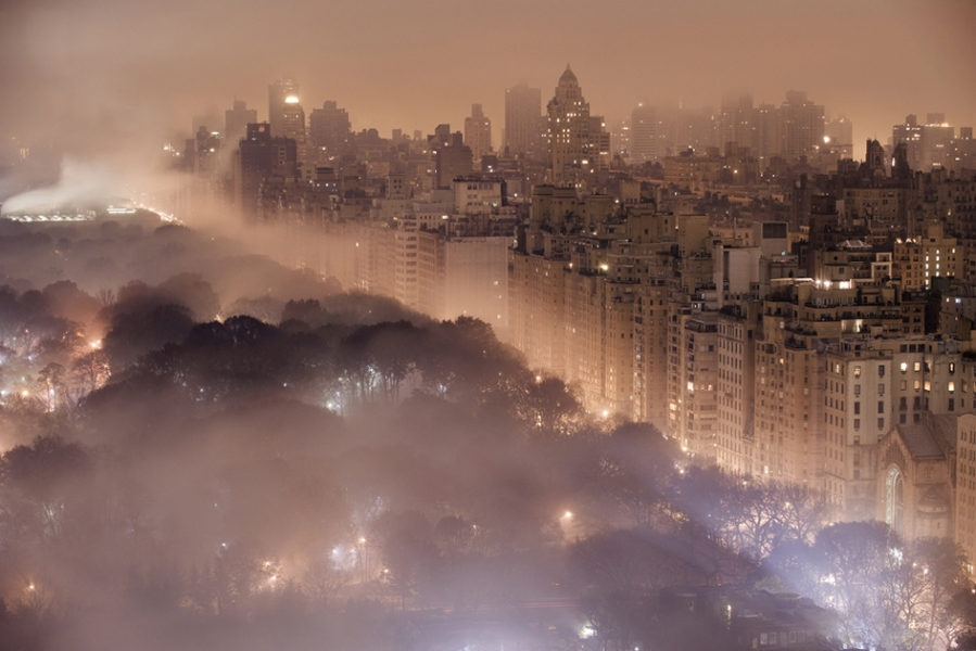 Jim Richardson- New York City Skyline in Fog