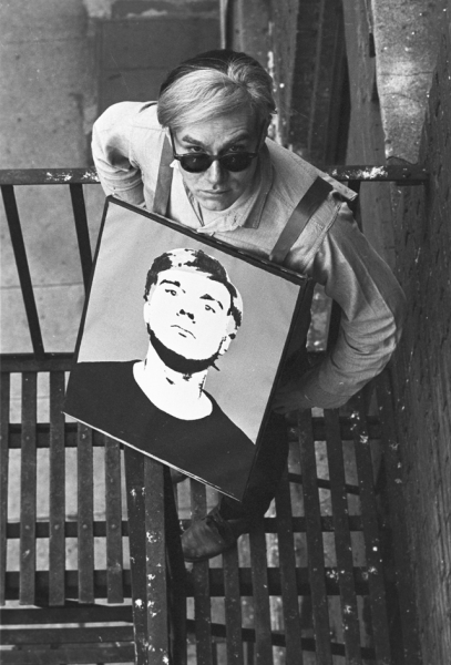 William John Kennedy- Warhol with ''Self Portrait'' SB