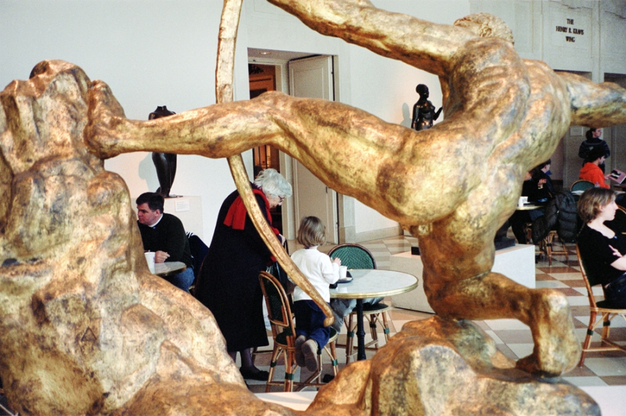 Max Kozloff- Cafe at the Metropolitan Museum