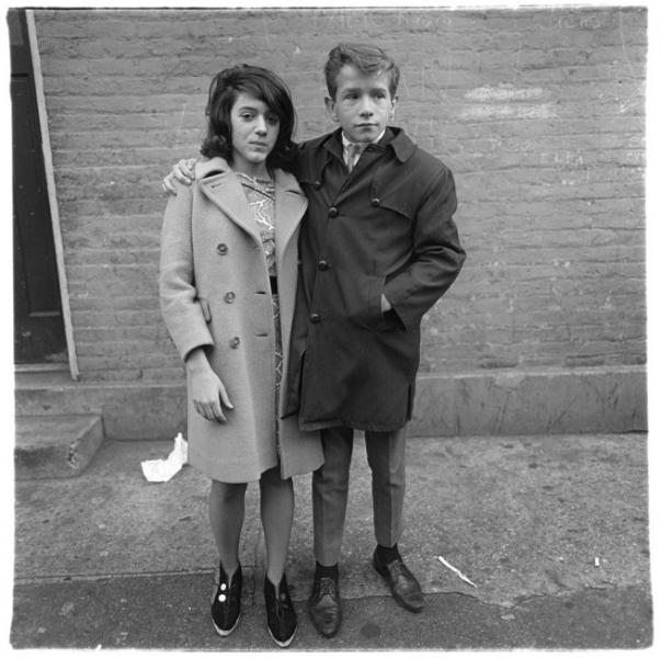 Diane Arbus- Teenage Couple on Hudson Street