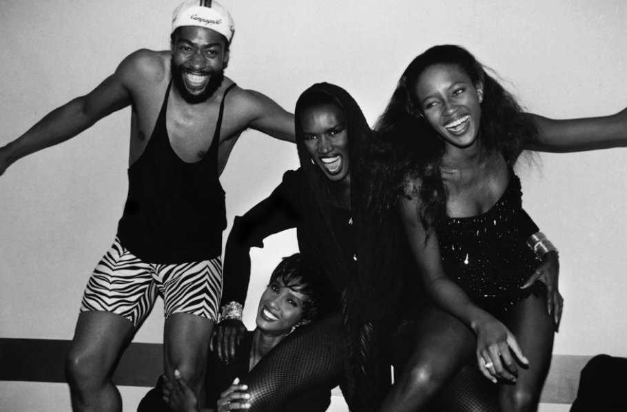 Roxanne Lowit, Patrick Kelley, Iman, Grace Jones and Naomi Campbell, Iman's Birthday Dinner