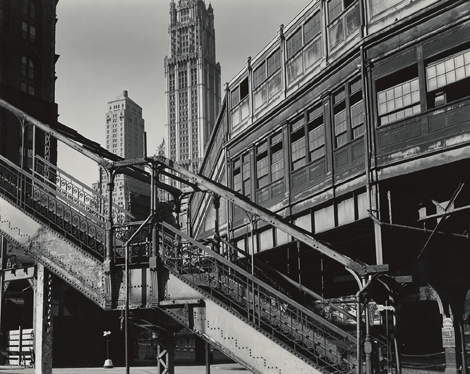 Brett Weston - Staircase and Buildings, New York