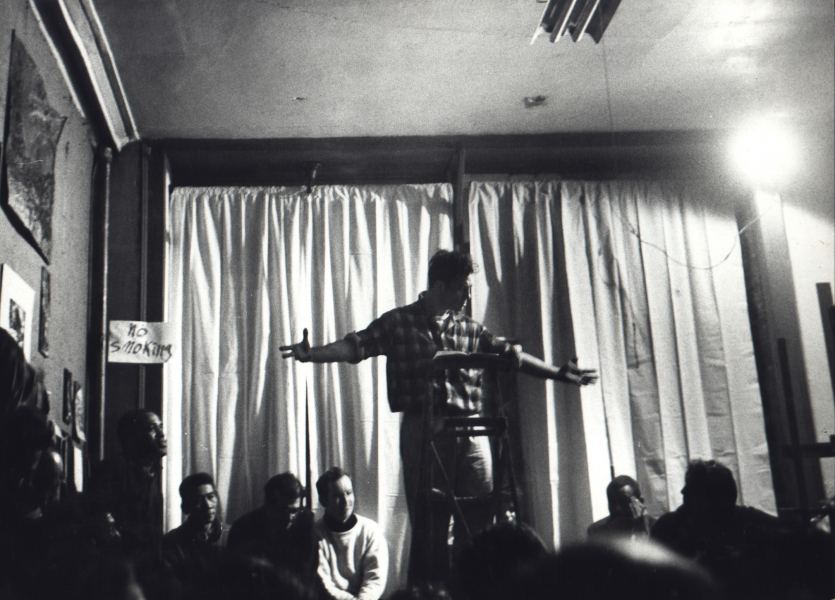 Fred W. McDarrah- Jack Kerouac Reading Beatnik Poetry in Lower East Side Loft