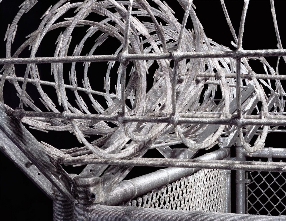 LIZA LOU, Security Fence (detail), 2005