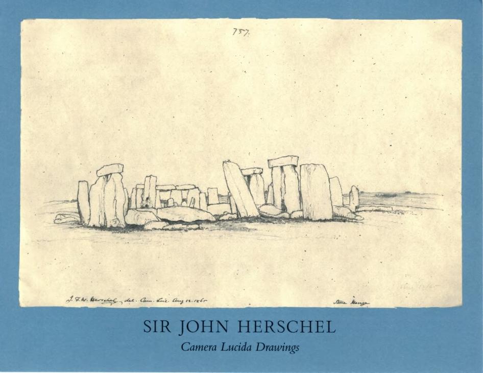 Sir John Herschel Camera Lucida Drawings