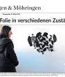 VAIHINGEN & MöHRINGEN, Wasser und Folie in verschiedenen Zuständen, by Sabine Schwieder