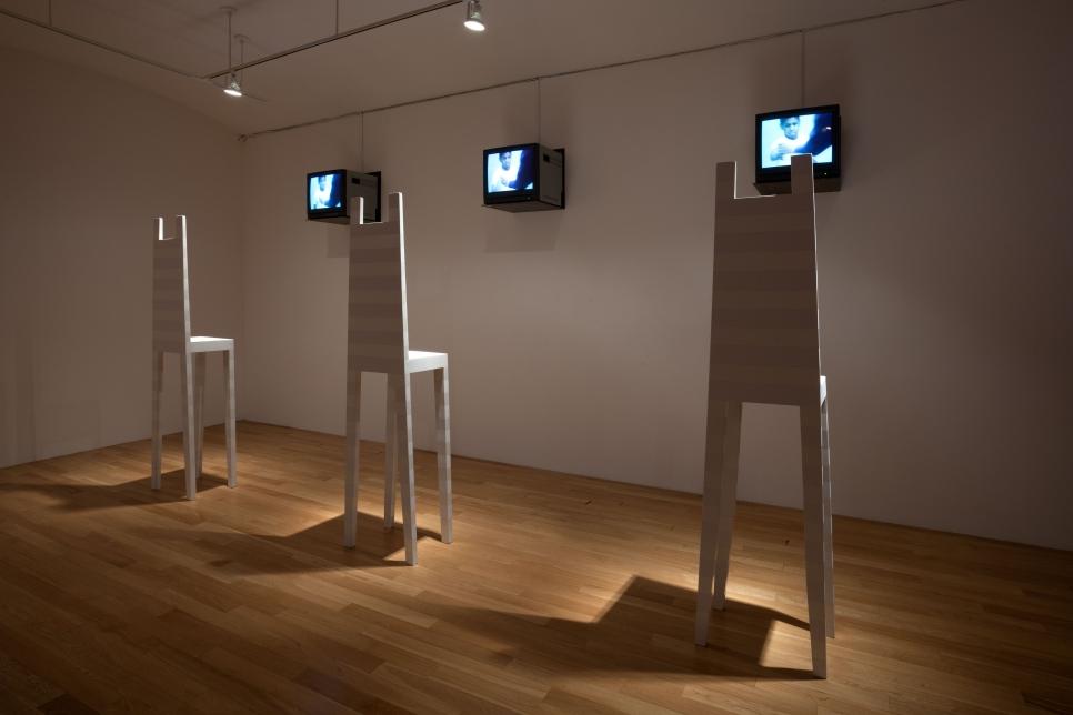 Installation view 1, Robert Wilson, Deafman Glance: Video Installation, September 24 – November 13, 2010