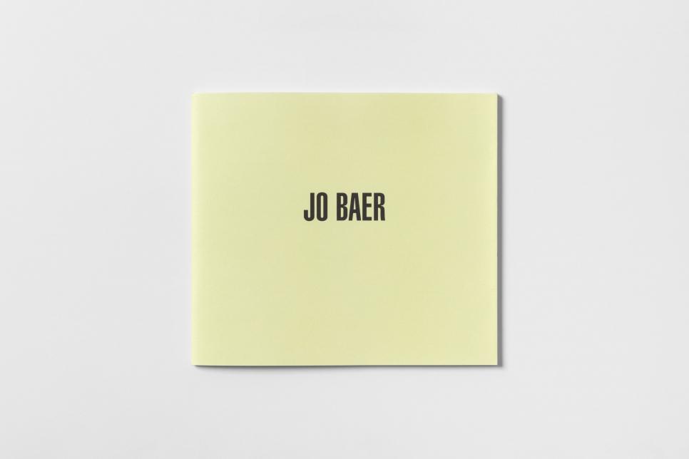 Jo Baer Cover