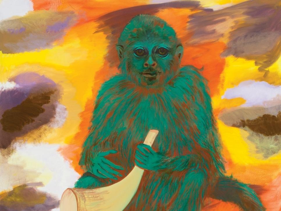 painting of monkey