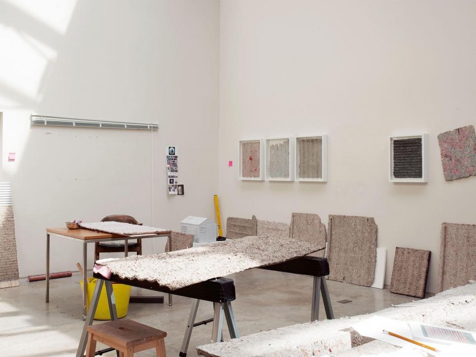 View of Whiteread's studio