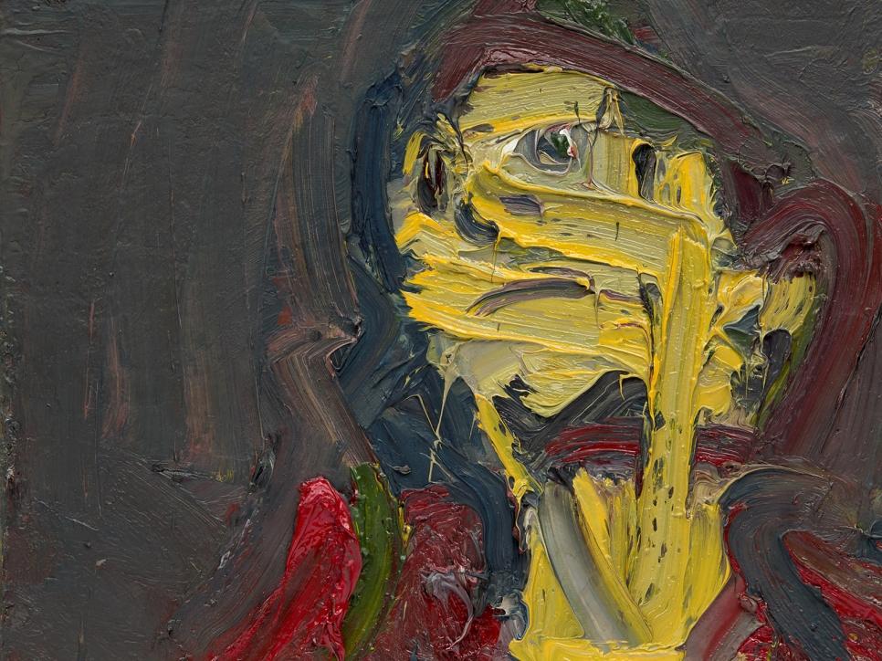 Auerbach portrait painting of a head