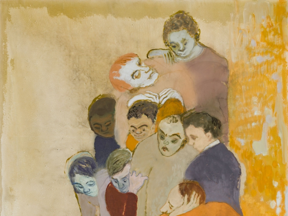Painting of group of people